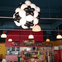 decoration ballons du flunch cognac (charente), le ballon geant